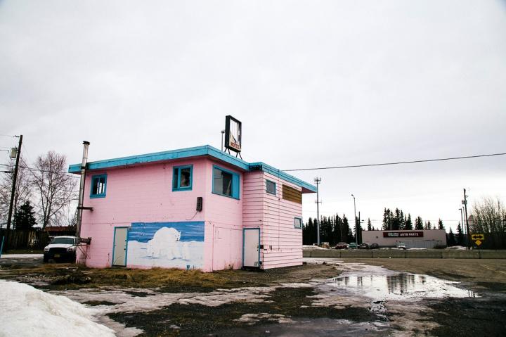 abandoned pink motel